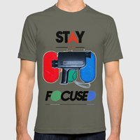 Stay Focused Mens Fitted Tee Lieutenant SMALL