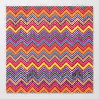 Colourful Chevrons Canvas Print
