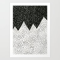 Day And Night (pen On Pa… Art Print