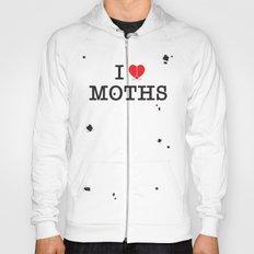 I Love Moths Hoody