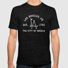 The City Of Angels Mens Fitted Tee Tri-Black SMALL