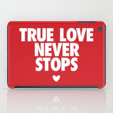 True Love Never Stops iPad Case