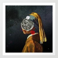 Look into the deep night Art Print