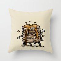 Pancake Bot Throw Pillow