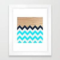 Chevron & Wood Framed Art Print