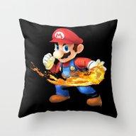 MR.MARIO Throw Pillow