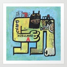 Art Print - Pat Hibulaire  - Exit Man