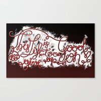 This Life - Red Version Canvas Print