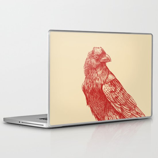 Red Raven  Laptop & iPad Skin