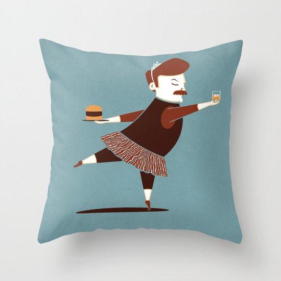 Libertarian Swan Throw Pillow