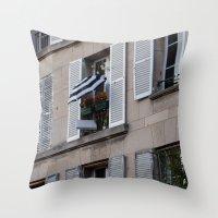 Parisian Awning Throw Pillow