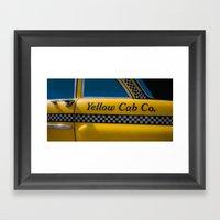 Yellow Cab Co. Framed Art Print