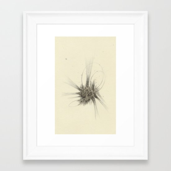 The Silence Without A Storm Framed Art Print