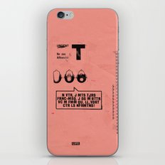 3T3H3E iPhone & iPod Skin