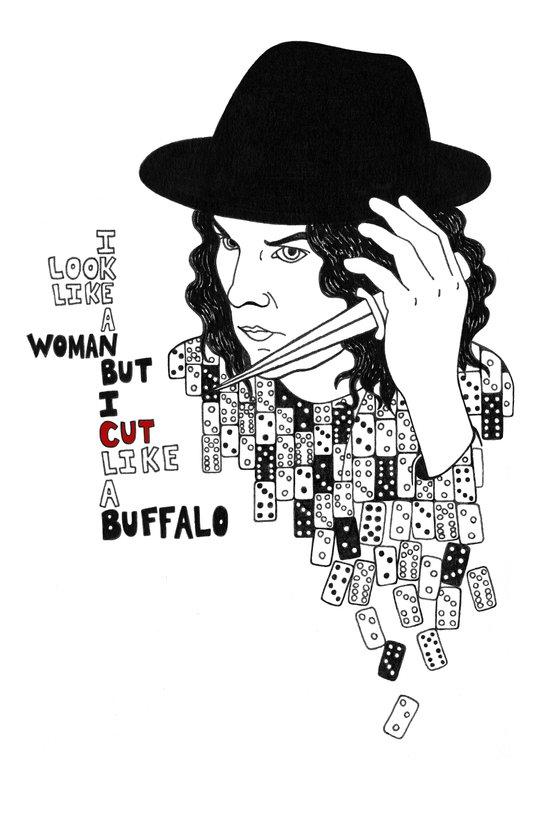 Jack White Cuts Like a Buffalo Art Print