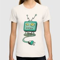 Edna TV Womens Fitted Tee Natural SMALL