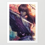 Himura Kenshin Art Print