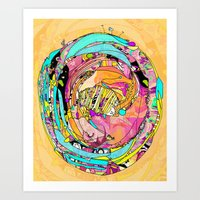 Circled Art Print
