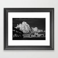 Clouds & Suspects I Framed Art Print
