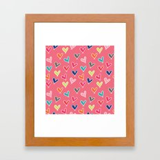 Blow Me One Last Kiss - Pink Framed Art Print