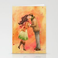 Cold Weather Kiss Stationery Cards