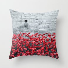 Tower Poppies 02B Throw Pillow