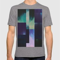 Rearranged Mens Fitted Tee Tri-Grey SMALL