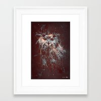 DARK OWL Framed Art Print