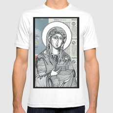 Madonna of Today's Horoscope Mens Fitted Tee White SMALL