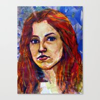 Self Portrait, Magazine … Canvas Print