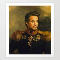 Robert Downey Jr. - replaceface Art Print