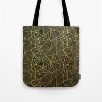 Ab 2 R Black and Gold Tote Bag