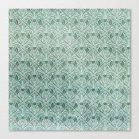 Art Nouveau Grunge Patte… Canvas Print