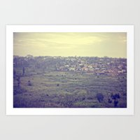 City In The Hills::rwand… Art Print