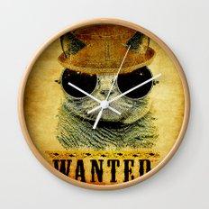 Cat Wanted Wall Clock