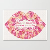 Make A Girl Laugh Canvas Print