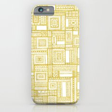 Golden Doodle patchwork iPhone 6s Slim Case