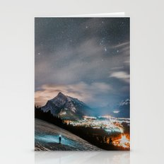 Banff At Night Stationery Cards