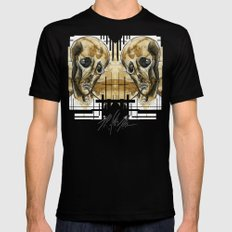 dead head Black SMALL Mens Fitted Tee