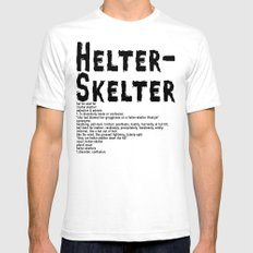 Helter Skelter (black on White) SMALL Mens Fitted Tee White