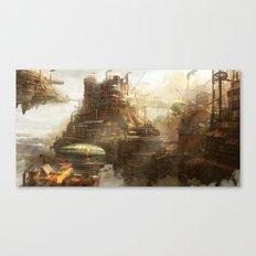 Steampunk city Canvas Print