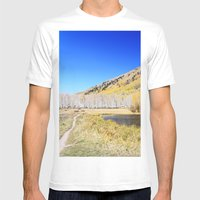 Mountain Lake Mens Fitted Tee White SMALL