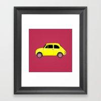 A Tiny Fiat Framed Art Print