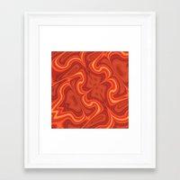 Fiery Fire Framed Art Print