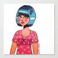 SRSLY. Canvas Print