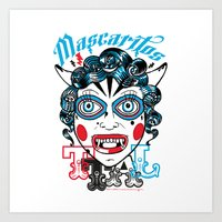 Mascaritos PERU Art Print
