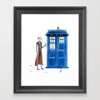 Doctor Wholington, Pumpkin Time Lord King! Framed Art Print