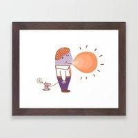 Bubble Gum Framed Art Print