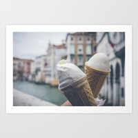 Love And Ice Cream Art Print