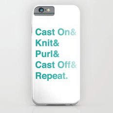Knitting - Helvetica Ampersand Style iPhone 6s Slim Case
